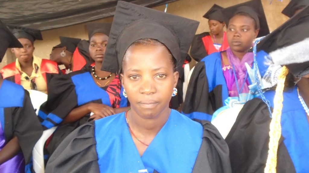 Kate, who is completely deaf, on her graduation day in Kabale, Uganda.