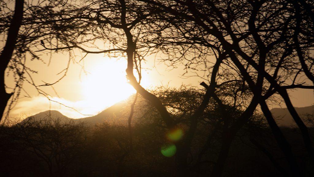 Salida del sol sobre Kilaguni, 150710