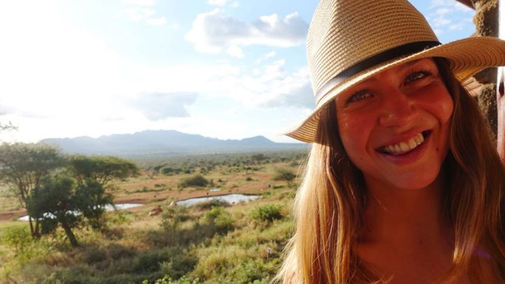 Elisabeth, one of our customers visiting the Tsavo National Park. 180630