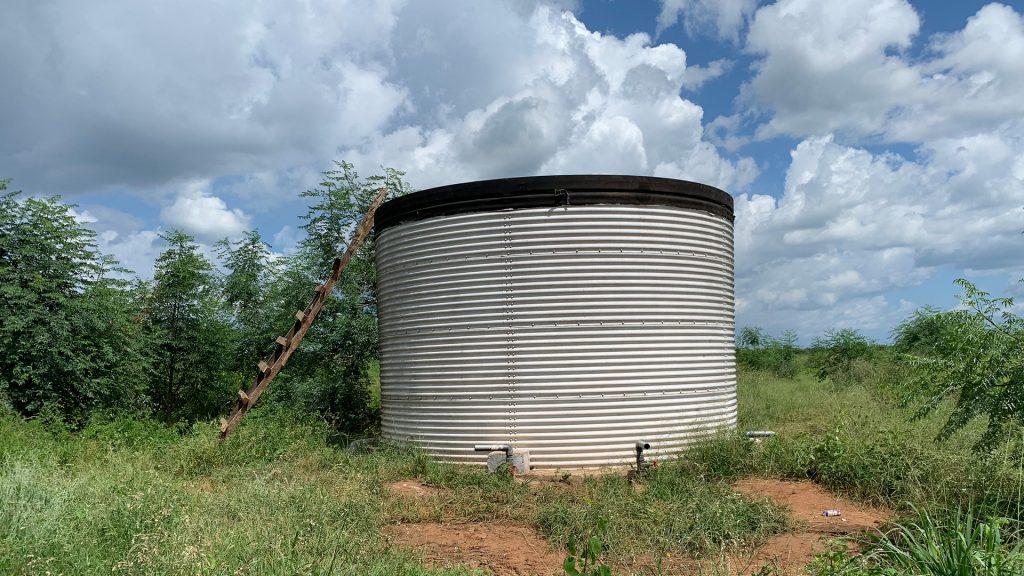 Cistern för lagring av vatten till bland annat plantskolan. Foto: Torgny Johnsson
